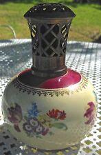 ANCIENNE LAMPE BERGER PORCELAINE  - REVOL  - décor de fleurs N°2