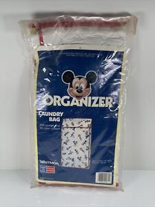 "Whitmor Disney Laundry Bag Mickey Mouse 28 1/2 X 16"" Goofy Nursery Organizer VTG"
