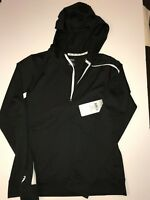 NWT! Asics Black Workout Women's Casual Hooded Jacket, Size S/P, Lightweight