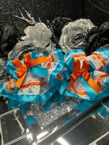 ⭐️⭐️Diamanté Stack Bow orange blue layered socks 🧦 Ruffle tutu 3-5 Jazziejems