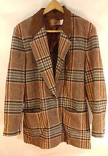 1970s PENDLETON Knockabouts Vintage Wool Plaid Blazer Jacket PS Petite Sz 10