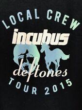 ☀️Incubus Deftones Local CREW ONLY Roadie Concert Tour T-Shirt Rare ~ Men's XL