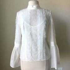 White House Black Market Celine Bell Sleeve Victorian Lace Blouse $99