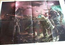 LARGE A1 SIZE WARHAMMER POSTER DOUBLE SIDED ARRIVAL INQUISITOR REX / TITAN