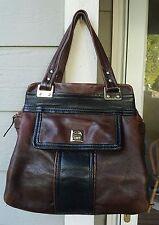 VINTAGE KATE SPADE SATCHEL Pebbled Leather Mahogany & Black