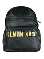 Calvin Klein Logo Medium Sized Multi Pocket Backpack Black/Gold New