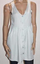 COTTON ON Designer Summer Blue Polly Button Thru Day Dress Size S BNWT #SO117