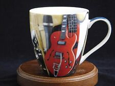 Rock And Roll Hall of Fame & Museum Cleveland Vintage Red Guitar Porcelain Mug