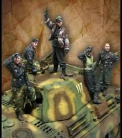 1/35 Scale German Panther Tank Crew WW2 Resin Model Kit WWII (5 Figures)