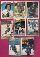 1975-76 TO 1984-85 OPC NORDIQUES BRUINS SABRES ANDRE SAVARD CARD LOT  (INV#6534)