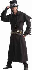 Men's Steampunk Duster Coat, Black, One Size Costume