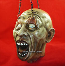 Eternal Torture Gothic Horror Hanging Head on Chains Figure Halloween Ornament
