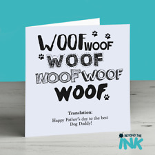 Fathers Day Card From The Dog - Dog Dad - Dog Daddy