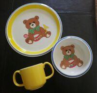 Vintage Mikasa Teddy bear Children's China 3 piece Set, CC004, Japan