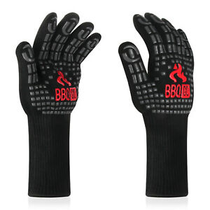INKBIRD BBQ Grill Gloves 800℃ Extreme Heat Resistant Silicone Non-Slip Fireproof