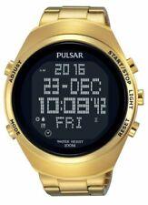 Digitale Armbanduhren aus Edelstahl mit Pulsar