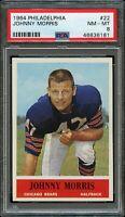 1964 Philadelphia FB Card # 22 Johnny Morris Chicago Bears PSA NM-MT 8 !!!!