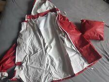 Regenpak Rood En Blauw Met Witte Rubber Binnenzijde Maat M en XS  Nu Voor 25