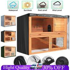 4FT Rabbit Hutch Cover Waterproof Dustcover Garden Patio Pet Bunny Cage Covers
