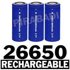 3 PILES ACCUS RECHARGEABLE BATTERIE 26650 8800mAh 3.7V Li-ion BATTERY