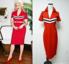 Glamour Bunny June red pencil dress . small