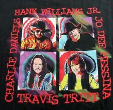 Vintage Country Music Stars C. Daniels H. Williams Jr. Messina T Shirt Size XL