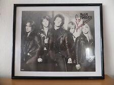 RARITÄT IRON MAIDEN 1980 w. Paul Di'Anno + Clive Burr Original Signed Autogramm
