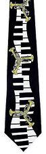 Tuba Keyboard Mens Necktie Piano Musical Instrument Musician Music Neck Tie New