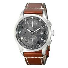 Victorinox Swiss Army Men's Watch AirBoss Dark Grey Dial Brown Strap 241597
