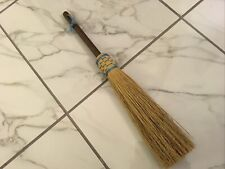 VERMONT HAND MADE NATURAL BRISTLE BROOM FIREPLACE HEARTH DECOR WHISK