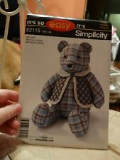 "Simplicity E2115 ""Bear and Vest"" It's So Easy One Size Uncut"