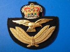 LARGE Canada military Armed Forces RCAF Royal Canadian Air Force cap badge MINT