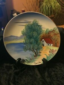 Antique Japanese Collectible China Plate Hand painted Signed by Noriko