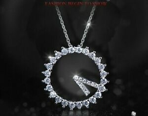 Simulated Diamond pendant Necklace/Circle/Ring/RGN481/RGE537
