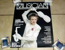 """1984 Musician Magazine Promo Poster Laurie Anderson 16X21"""" Excellent Cond! D"""