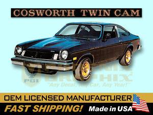 1975 1976 Chevrolet Vega Cosworth Twin Cam Decals & Stripes Kit