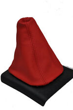 FITS VW GOLF MK1 MK2 MK3 POLO VENTO CADDY GEAR GAITER GAITOR COVER LEATHER RED