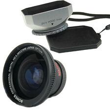 Bower 37mm 0.38x Wide Angle Lens,Hood for Canon Vixia HF100 HF11 HFM32 HFM31/ 30