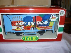 """LGB Train 4435 HB """"Happy Birthday"""" Box Car G Scale NEW"""