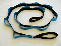Great Cove 8 ft Stretching Strap for Yoga & Physical Therapy 14 loops Teal/Black