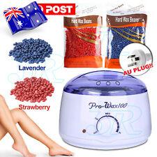 Wax Warmer Hair Removal Kit Waxing Heater Pot 9 Flavors Wax Beans AU Plug