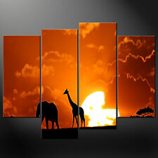 AFRICAN SUNSET SPLIT CANVAS Wall Art STAMPA FOTO Taglie Grandi Disponibili