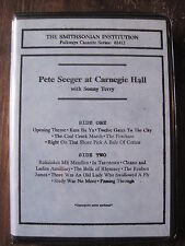 Pete Seeger at Carnegie Hall  (Smithsonian Institute Folkways Cassette Series)