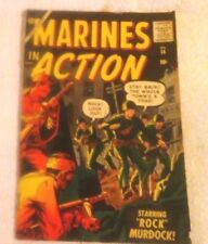 Comic Book Rare Old Vintage Atlas Silver Age Marines In Action #14 1957 6.0