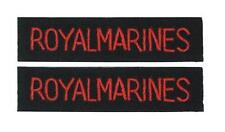 Royal Marines - WW2 Repro British Navy Shoulder Titles Badge Patches Sleeve Arm