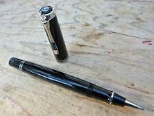 New Pelikan R405 Souveran Black Silver Trim Roller Ball Pen