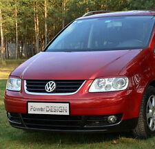 Eyebrows for VW TOURAN I 2003-2006  headlight eyelids lids ABS Plastic