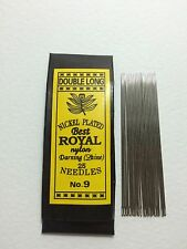 100 Pcs Useful Assorted Hand Sewing Needles No.9 Size 5.1 cm. (Double Long)