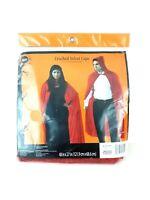Red Hooded Crushed Velvet Cape Cosplay Vampire Devil Costume Cloak Halloween