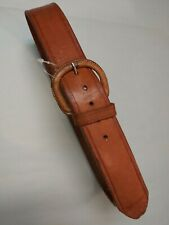 Replacement buckle CAN BE CHANGED! VINTAGE 70'S CAMEL BROWN LEATHER Belt UNISEX
